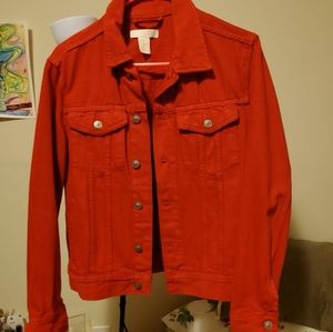 H&M Red Jean Jacket